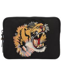 Gucci - Tiger Patch Techno Canvas Tablet Holder - Lyst