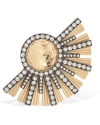 Lanvin - Embellished Brass Mono Earring - Lyst