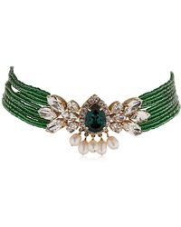 Shourouk - Cascade Beaded Crystal Choker - Lyst