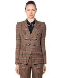 Veronica Beard - Miller Wool Blend Prince Of Wales Blazer - Lyst