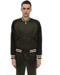 8241f6575 Gucci Acetate Bomber Jacket With Lyre Patch in Black for Men - Lyst