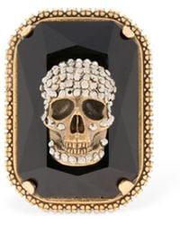 """Alexander McQueen - Anillo """"gemstone Skull"""" - Lyst"""
