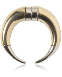 Givenchy - Double Cone Shark Brass Mono Earring - Lyst