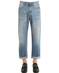 Gucci | Coated Stone Washed Denim Jeans | Lyst