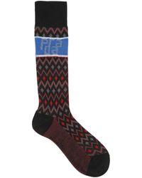 Prada - Chevron Wool Socks - Lyst