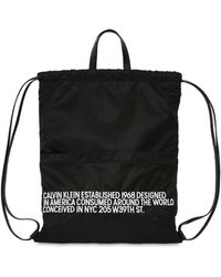 CALVIN KLEIN 205W39NYC - Embroidered Nylon Drawstring Backpack - Lyst