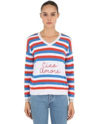 Giada Benincasa - Ciao Amore Embroidered Intarsia Jumper - Lyst