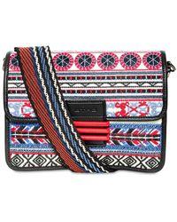 Etro - Medium Rainbow Leather & Raffia Bag - Lyst