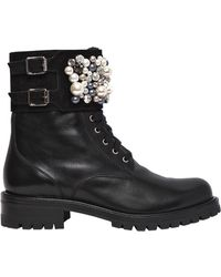 Rene Caovilla - 30mm Swarovski Leather Boots - Lyst
