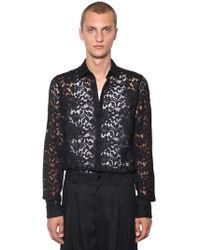 Dolce & Gabbana - Camicia In Pizzo - Lyst