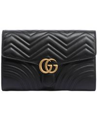 Gucci - Gg Marmont 2.0 Leather Clutch - Lyst