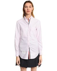 Thom Browne - Solid Cotton Oxford Shirt - Lyst