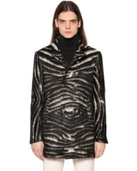 John Varvatos - Zebra Effect Blend Coat - Lyst