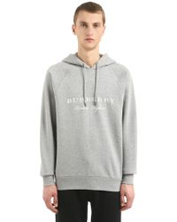 Burberry - Embroidered Logo Hooded Sweatshirt - Lyst