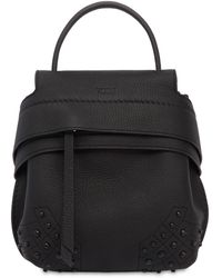 Tod's - Mini Wave Gommini Leather Backpack - Lyst
