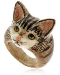 Nach | Grey Tabby Cat Ring | Lyst