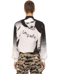 Vetements - Marylin Manson Printed Poplin Shirt - Lyst