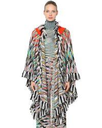 Missoni - Hooded Wool Blend Knit Shawl - Lyst