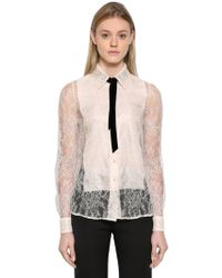 Lanvin | Dentelle Chantilly Lace Shirt | Lyst