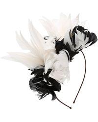 Nanà Firenze - Feather Flowers Headband - Lyst