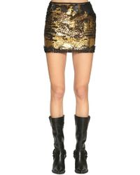 Redemption - Sequined Lace Mini Skirt - Lyst