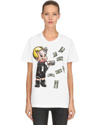 76455ea7ff0 DOMREBEL Baller 25 Cotton Jersey T-shirt in Black - Lyst