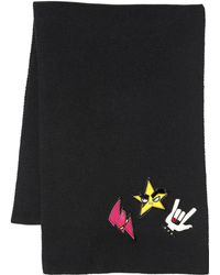 DSquared² - Punk Patches Wool Scarf - Lyst