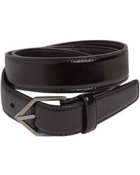 Saint Laurent | 25mm Triangle Buckle Leather Belt | Lyst
