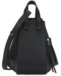 Loewe Small Hammock Leather Bag - Black