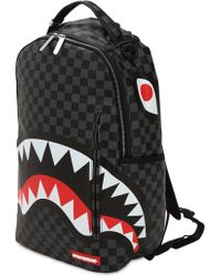 Sprayground - Black Chequered Shark In Paris Backpack - Lyst