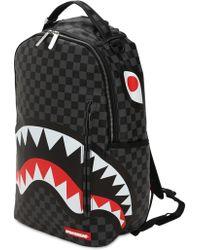 """Sprayground - Rucksack """"black Checkered Shark In Paris"""" - Lyst"""