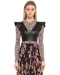 Isabel Marant - Ruffled Leather Crop Top - Lyst