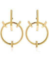 Schield - Geometrical Love Earrings - Lyst