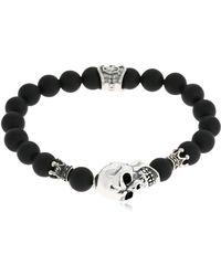 Cantini Mc Firenze - Skull Onyx Bracelet - Lyst