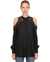 Ermanno Scervino - Silk Cutout Lace Blouse - Lyst