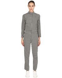 G-Star RAW - Houndstooth Denim Racer Jumpsuit - Lyst