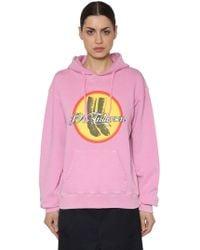 JW Anderson - Printed Hooded Cotton Jersey Sweatshirt - Lyst