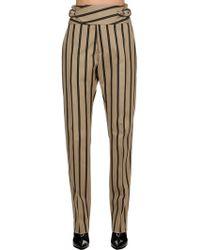 Vivienne Westwood - Striped Cotton Blend Pants - Lyst