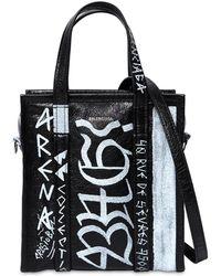 Balenciaga - Xs Bazar Graffiti Leather Tote Bag - Lyst