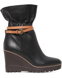 See By Chloé - 70mm Leather Ankle Boots - Lyst