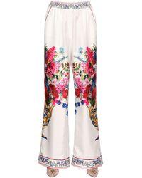 Dolce & Gabbana | Pantaloni In Twill Di Seta | Lyst