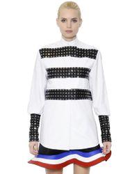 JW Anderson - Striped Double Cotton Poplin Shirt - Lyst