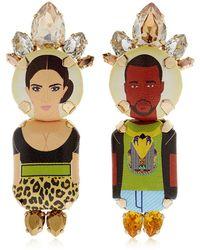Bijoux De Famille - Kim & Kanye Clip-on Earrings - Lyst