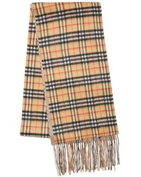 Burberry - Xl Reversible New Check Cashmere Scarf - Lyst