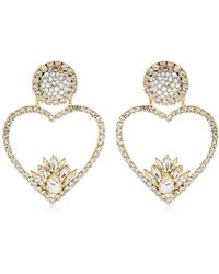 Shourouk - Renata Crystal Clip-on Earrings - Lyst
