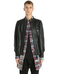 Diesel Black Gold | Zip-up Nappa Leather Jacket | Lyst