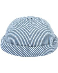 Beton Cire - Handmade Striped Cotton Denim Sailor Hat - Lyst