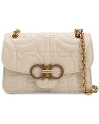 Ferragamo - Small Quilted Leather Shoulder Bag - Lyst