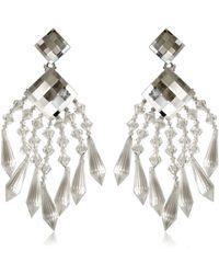 Balmain - Crystal Drop Earrings - Lyst
