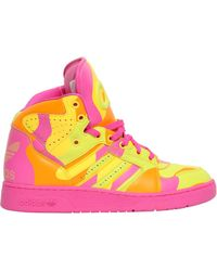 d6b1a3cd44a2 Jeremy Scott for adidas - Neon Camo Leather High Top Sneakers - Lyst